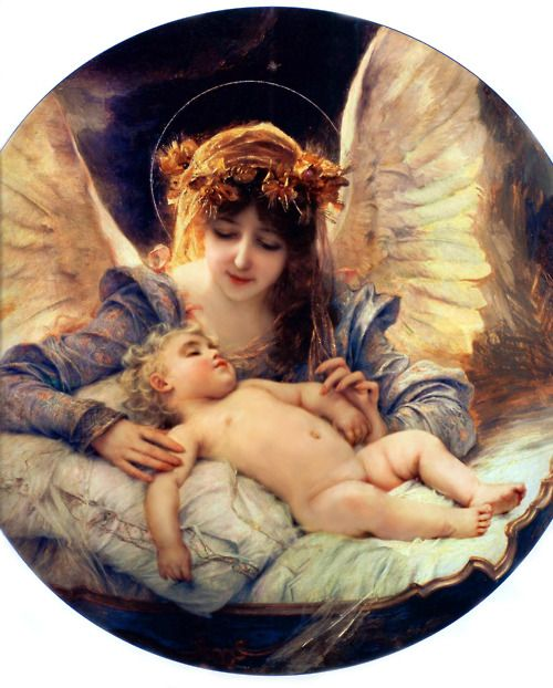 The Guardian Angel, by Gabriel Ferrier, 1885   With us from birth and all of our days on Earth to protect us !