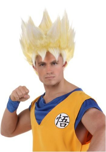 #halloween #halloweencostumes Adult Super Saiyan Goku Wig: Saiyans are always trying to increase their power level, and hopefully… #costumes