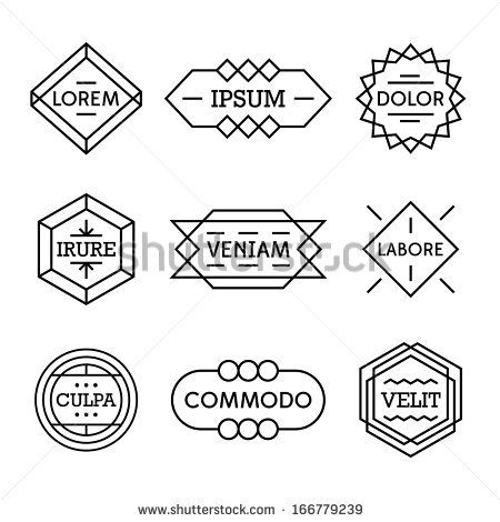 minimal monochrome geometric vintage label  by Ezepov Dmitry, via Shutterstock