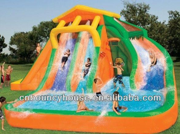 33feet Splash Inflatable Water Slide,Inflatable Wet Slide $800~$3000