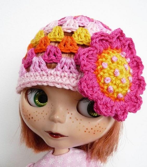 Crochet Hat Pattern For Blythe : 117 best images about Blythe Doll Crochet Patterns on ...