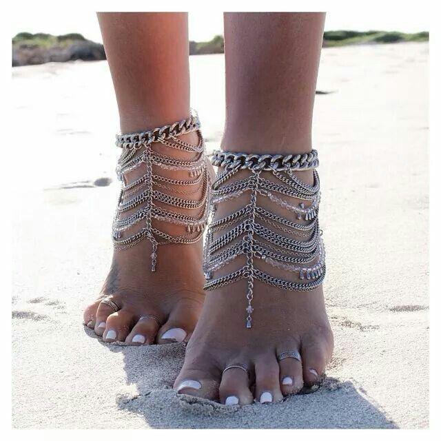 Feet jewelry. Beach love.