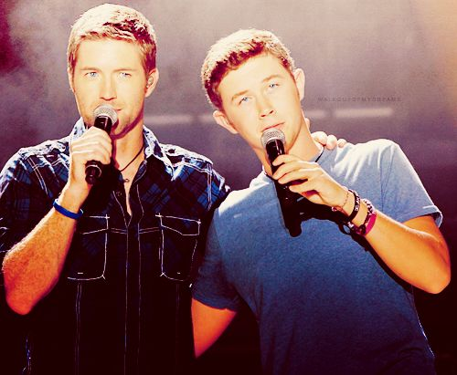 (Josh Turner + Scotty McCreery) (precious baby faces+ amazing deep southern voices)= <3
