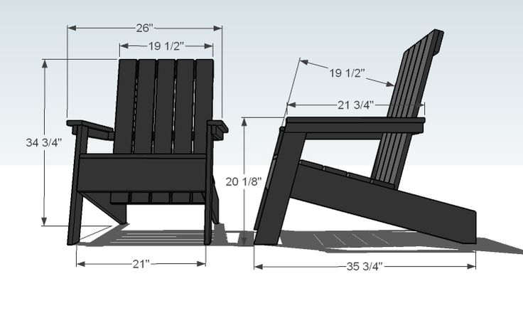 Ana White | Build a Modish Adirondack Chair | Free and Easy DIY Project and Furniture Plans