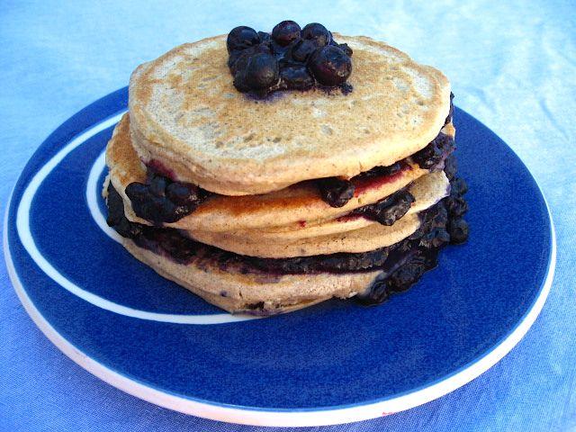 Buckwheat Pancakes with Blueberry Peach Sauce: A Gluten Free Recipe