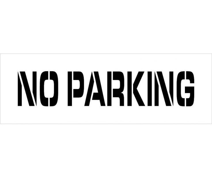 Stencil, PARKING LOT, NO PARKING, 4X24