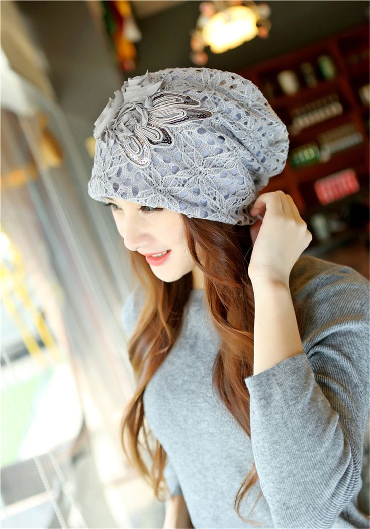 Winter Hat Beanies Hat Floral Skullies Hollow Sweet Novelty Woman Beanie Hat Stripe Warm Cap M184 – Santé et bien-être