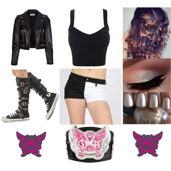 a wwe fashion look from july 2013 featuring cut out crop