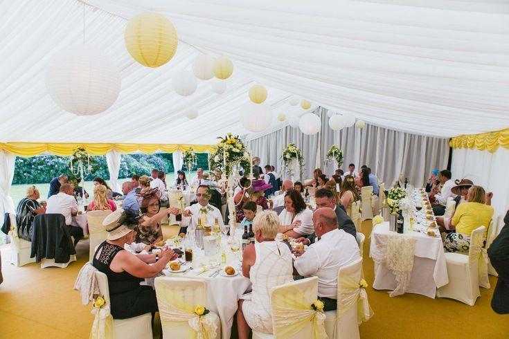 Yellow theme wedding marquee