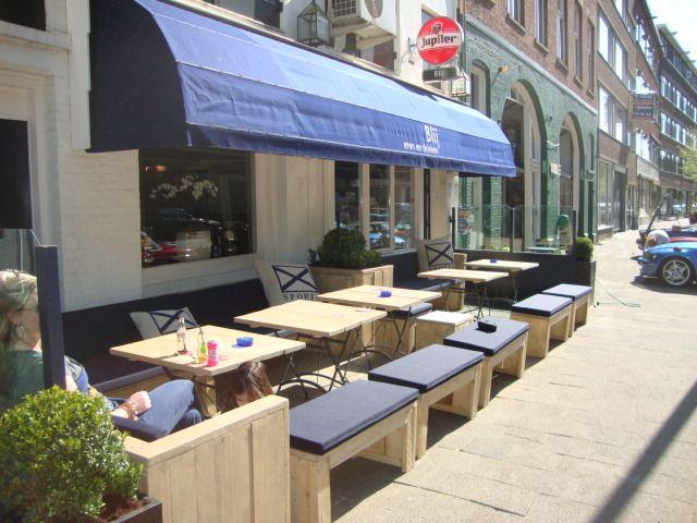 Steigerhouten terras restaurant blij rotterdam voor buiten pinterest beautiful a - Overdekt terras voor restaurant ...