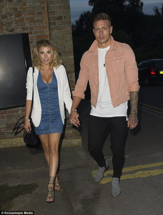 Loved-up: Olivia Buckland and Alex Bowen are proving they're stronger than ever as they packed on the PDA as they arrived at Sheesh restaurant in Chigwell on Wednesday night