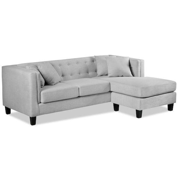 Astin Chaise Sofa Grey Chaise Sofa Gray Sofa Chaise