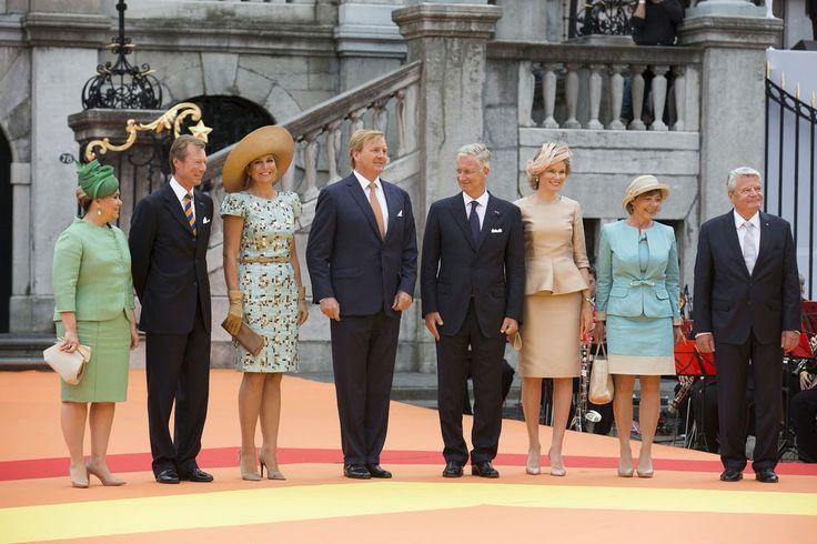 30 August 2014 King Willem-Alexander, Queen Máxima, Grand Duke Henri, Grand Duchess María Teresa, King Philippe and Queen Mathilde, attend celebrations marking the 200 Years of the Kingdom of The Netherlands in Maastricht
