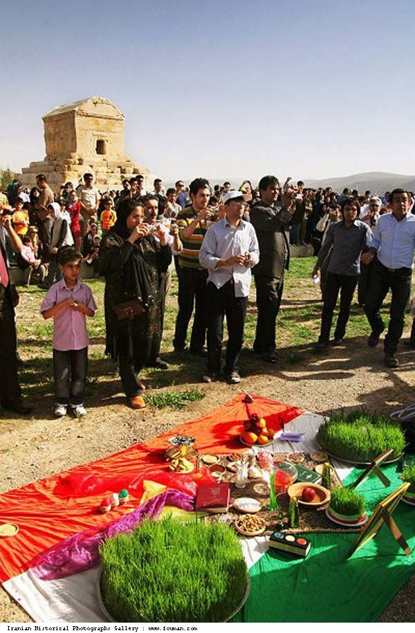 "Young Iranians celebrating the new year by the tomb of Cyrus The Great Clues & Views: The achievements of Cyrus the Great throughout antiquity is well reflected in the way he is remembered today. His own nation, the Iranians, regarded him as ""The Father"" and the Babylonians as ""The Liberator""."