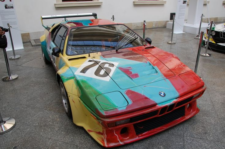 BMW M1 painted by Andy Warhol