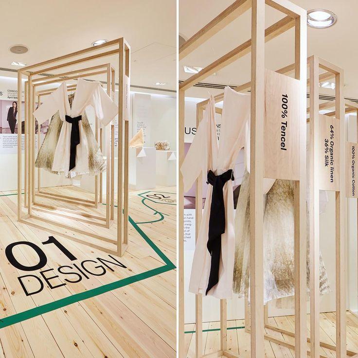 """H&M,Oxford Street, London, UK """"Conscious Capsule Pop-Up"""", creative by FormRoom,UK, pinned by Ton van der Veer"""