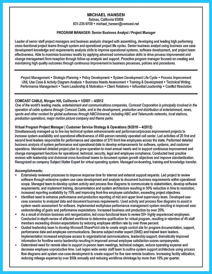 cool Best Secrets about Creating Effective Business Systems Analyst Resume,