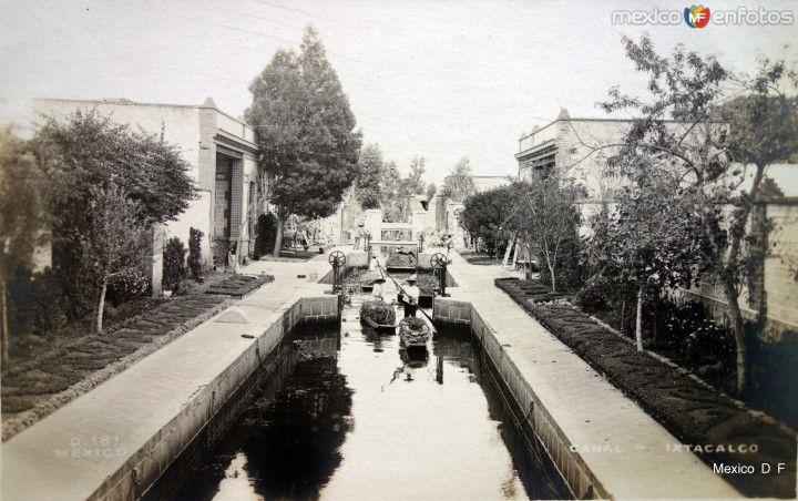 El Canal de Ixtacalco alla por 1900-1920