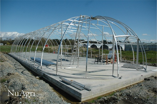 Biodome greenhouse before etfe is attached the aluminum and etfe combination make it an ideal Factors to consider before building a conservatory