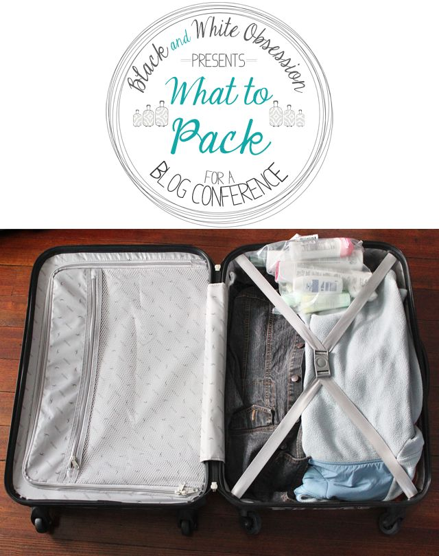 Black and White Obsession: Haven Conference: What to pack for a Blogger Conference