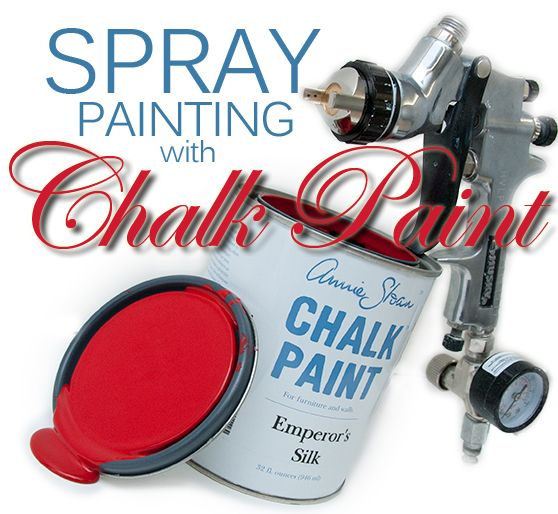 AND IT IS POSSIBLE FOLKS! Spraying painting with chalk paint. My life is complete! <3