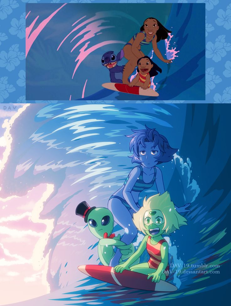 "dav-19: "" Screenshot Redraw ""Lilo & Stitch"" as ""Steven Universe"" """