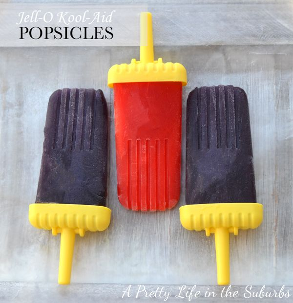 Jell-O Kool-Aid Popsicles - A Pretty Life In The Suburbs