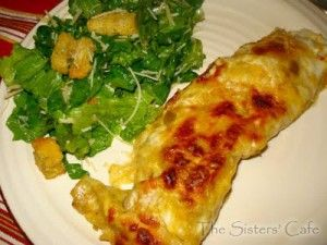 Honey Lime Enchiladas - really easy and delish. Made them with a rotisserie chicken, but you don't have to.