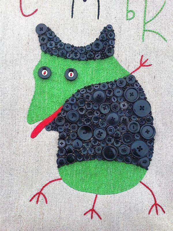 """Textile bags. (Animals) """"Smyk"""" by Ivan Semesyuk"""