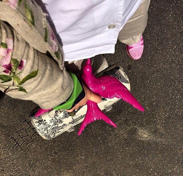 Per la primavera giacca di lino stampa floreale. Pezzo unico di Fiorella Ciaboco