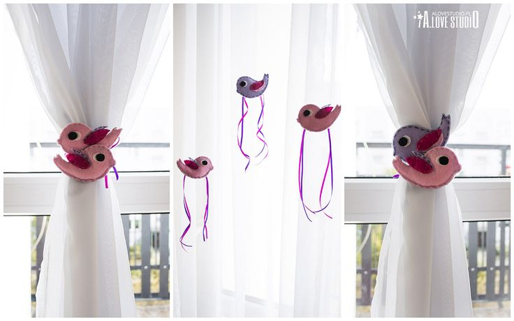 ptaki ozdoby z filcu do pokoju dziewczynki alocestudio blog