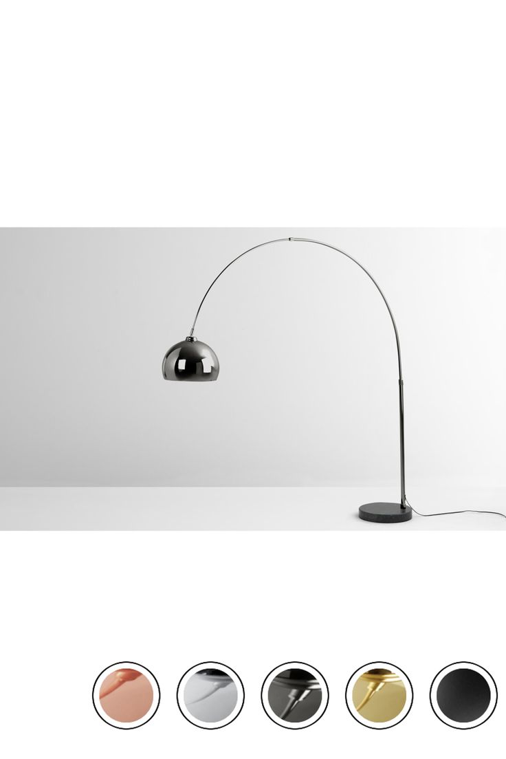 MADE Black Chrome Floor lamp | Large floor lamp, Black floor