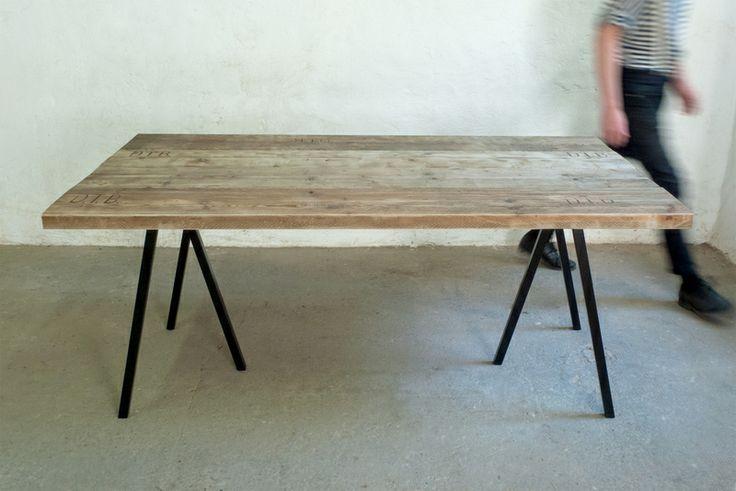 Tischplatte esstisch schreibtisch bauholz dielen interiors for Second hand esstisch