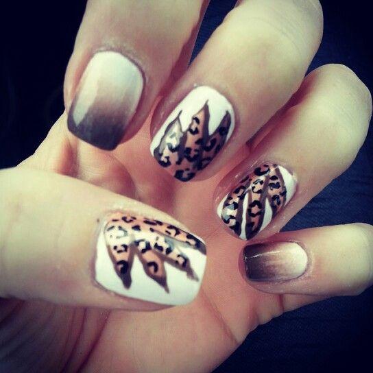17 best ideas about cheetah nail designs on pinterest