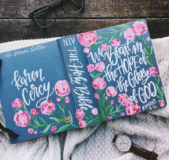 Introducing hand painted bibles by The Hipster Housewife! This is something you guys have been asking about for quite some time, and I am super please to be offering these custom bibles. They make perfect gifts for your loved ones and for yourself. What a beautiful gift to give a new believer at their baptism!  Each one of these bibles are unique and one of a kind, just like the person they belong to. I have two different options, you can send me your bible and I can paint it for you (a…