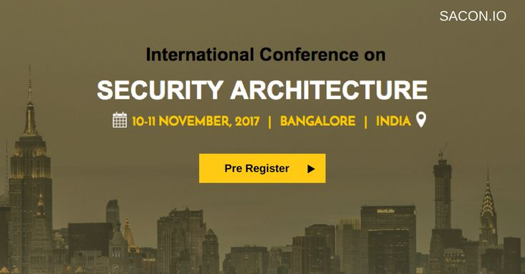 Join the largest security architecture conference in the region.   10 - 11 November   Bangalore   India. Learn Security Architecture, Application Security Architecture, SecDevOps, Threat Modeling, Incident Response, IoT Security & More.