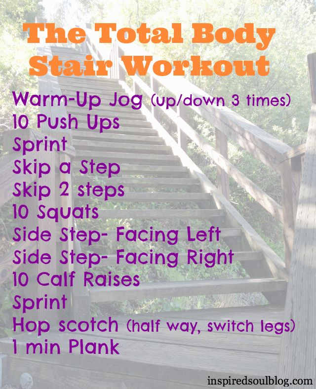 Step it Up Stair Workout  ellemayers.com for positively tall women