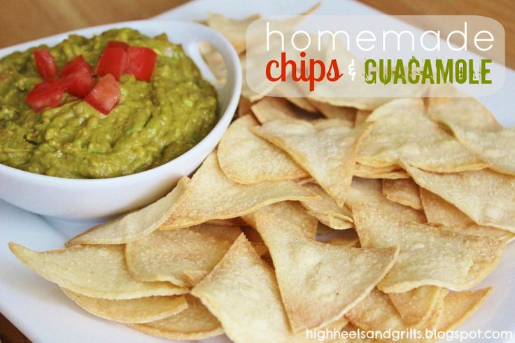 High Heels and Grills: Homemade Chips and Guacamole. Super easy appetizer without going out!: Homemade Tortillas, Avocado Salsa, Homemade Chips, Chips Before, Homemade Salsa, Appetizers, High Heels, Favorite Recipes, Grilled