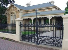 Fence Designs by Hindmarsh Fencing  Wrought Iron Security Doors