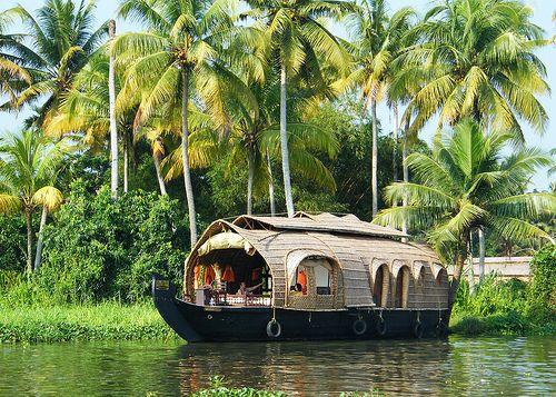 Indian Kerala Backwaters Kettuvallam (Rice Boat) by Nostalgic T+ Allan, via Flickr