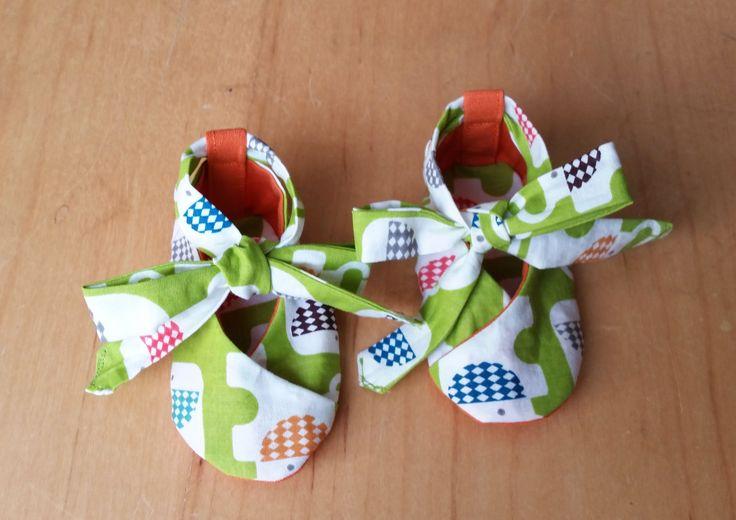 Little Mela Designs Kimono Shoes - reversible