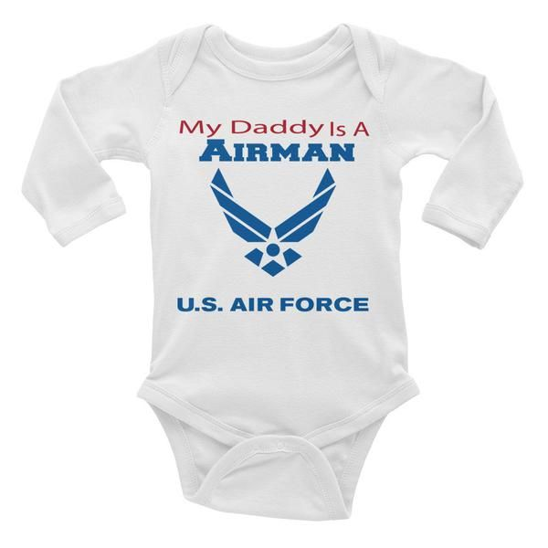 My Daddy is an Airman - Infant long sleeve one-piece