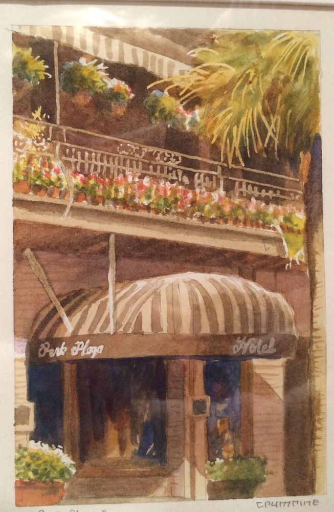 watercolor painting by Paul Crumine Park Plaza Hotel Winter Park Florida #Realism 50.00