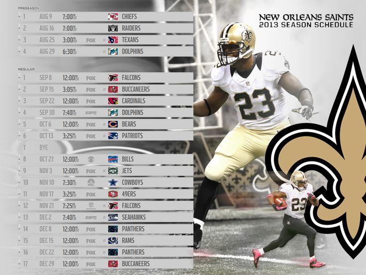 LSU Saints Football Schedule 2013 Printable | 2013 Saints wallpaper @ TigerDroppings.com
