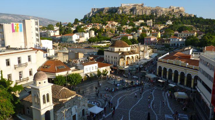 The square of Monastiraki with a view of #Parthenon. #Athens Photo on adorabilia.wordpress.com