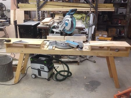 homemade chop saw stand