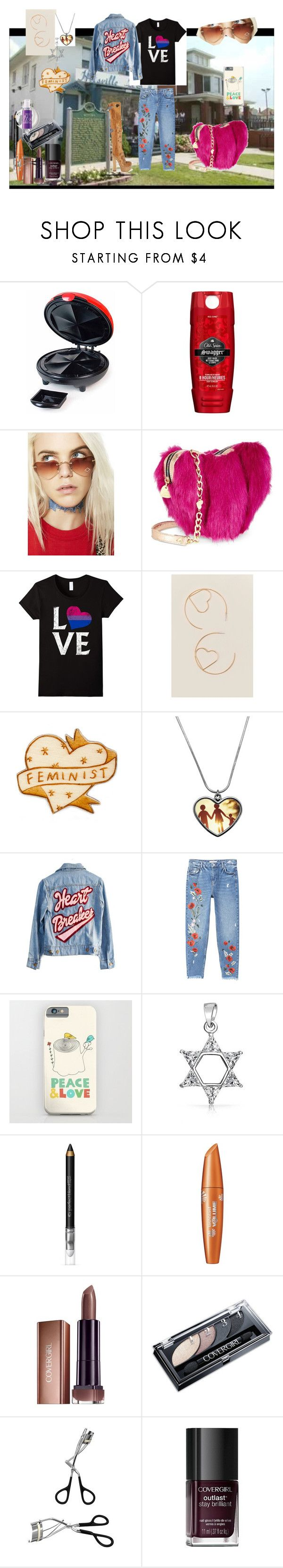 """""""- H E A R T S - ( a set for a group contest)"""" by naomig-dix ❤ liked on Polyvore featuring Nostalgia Electrics, Old Spice, Replay, Betsey Johnson, Francesca's, High Heels Suicide, MANGO, Bling Jewelry and Nemesis"""