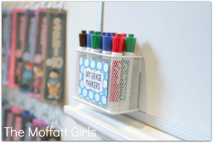 magnetic caddy for holding dry erase markers