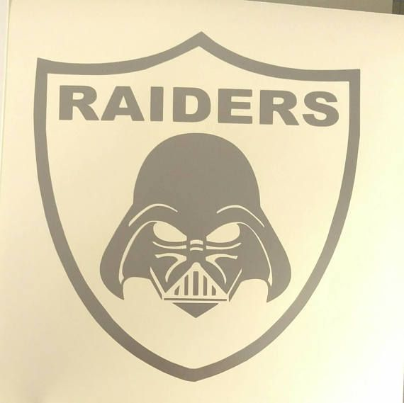 Raiders Darth Vader decal Star Wars Oakland football
