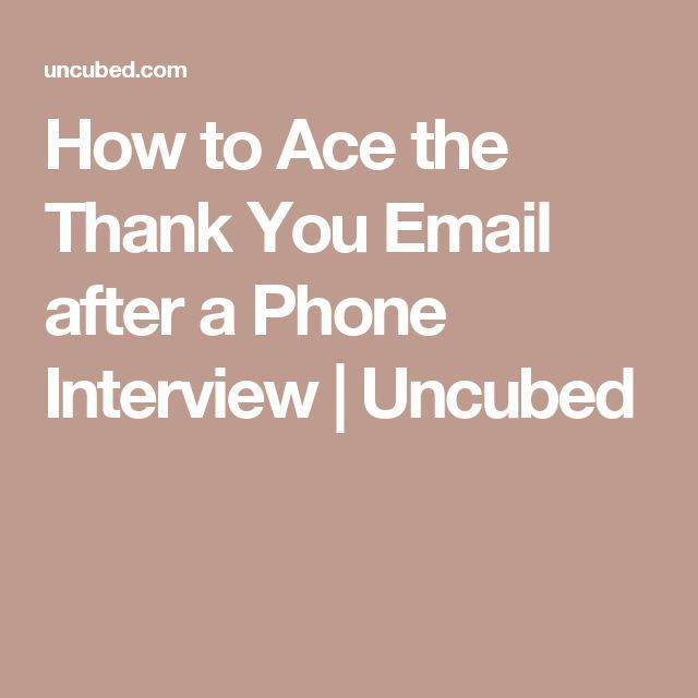 thank you email after phone interview with hr
